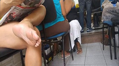 Milf feet, Candid, Black foot, Candids