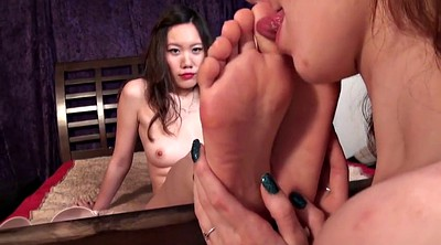 Chinese, Asian feet, Chinese lesbian, Asian lesbian, Lesbian feet worship, Foot worship