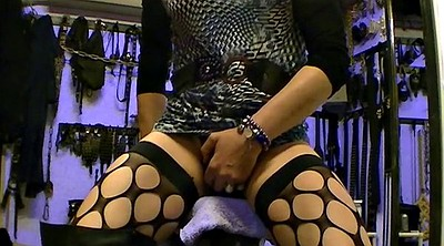 Gape, Toying, Servant, Long boots