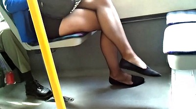Pantyhose, Candid, Sheer, Black pantyhose