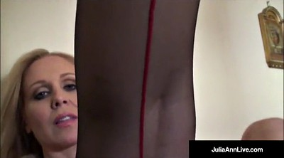 Julia ann, Ann, Mature strip, Try on, Pantie, Mature panty