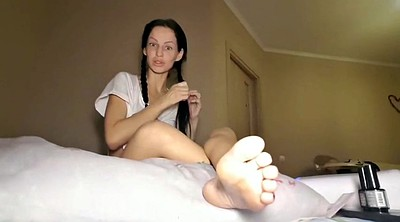 Homemade, Toes, Russian foot, Russian homemade, Paint, Foot lick