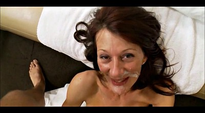 Mom handjob, Mom facial