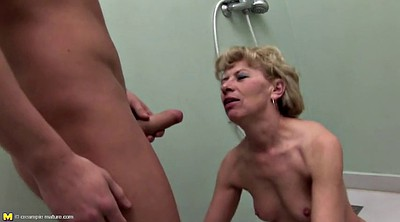 Mom and son, Granny pissing, Pissing, Mom anal, Milf anal, Granny piss