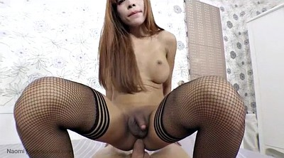 Ladyboy, Shemale cumshot, Asian shemale