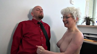Mature handjob, My boss