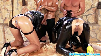 Throat fuck, Foursome anal