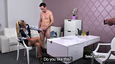 Nylon, Czech amateurs, Fake agent, Stockings office