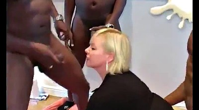 Gangbang, Short hair, Mature group, Short, Mature gangbang, Interracial gangbang