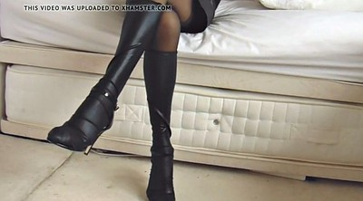 Nylon pantyhose, Black pantyhose, Leather, Ebony panties