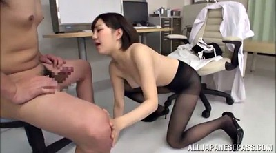Pantyhose, Asian pantyhose, Asian handjob, High heels, Pantyhose handjob, Heels