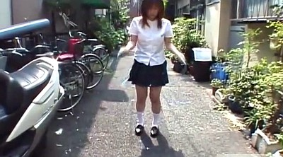 Japanese schoolgirls, Japanese public, Subtitle, Rope, Japanese outdoor