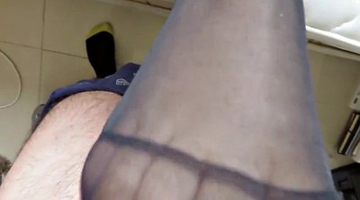 Nylon footjob, Nylon feet, Feet nylon