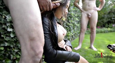 Leather, Gangbang creampie, Granny anal, Creampie granny, Julie, Creampie gangbang
