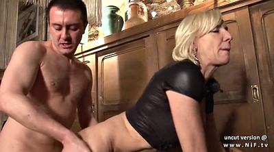 French mature, Cum in mouth