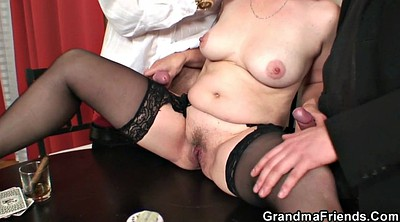 Wife threesome, Young wife, Poker, Mature threesome