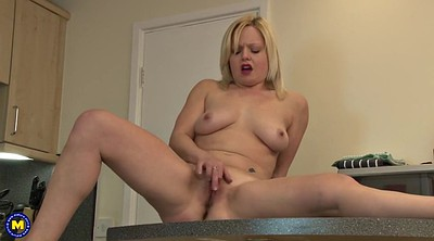 Mom masturbating, Kitchen