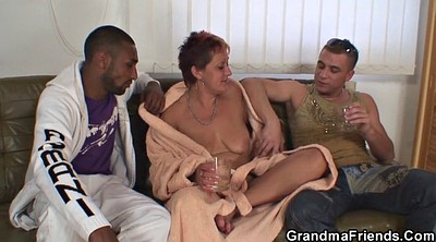 Granny, Swallowing, Mature threesome, Granny threesome, Granny swallow