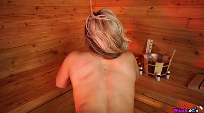 Sauna, Mom solo, Mom pov, Sex mom, Chubby dildo