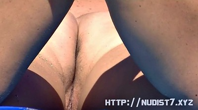 Nudist, Thigh, Spreading, Nudist beach