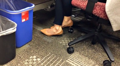 Shoeplay, Candid, Footing, Office foot