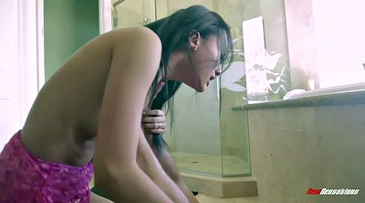 Chinese, Chinese teen, Bathroom, Chinese shower