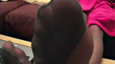 Pantyhose foot, Pantyhose feet, Nylon foot, Ebony feet