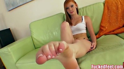 Footjob, Big feet, Big cocks, Red heads, Red head, First big cock