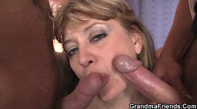 Old and young, Pick up milf, Mature threesome, Hot granny, Giving head