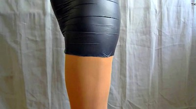 Crossdress, Crossdressers, Crossdress nylon, Nylon pantyhose, Black nylon