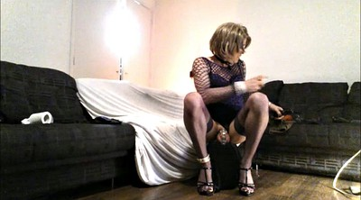 Chastity, Riding dildo, Heels solo