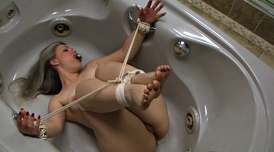 Bound, Mature foot, Foot tease, Mature feet