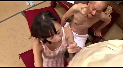 Japanese old man, Japanese old, Japanese granny, Japanese threesome, Granny blowjob, Pantie
