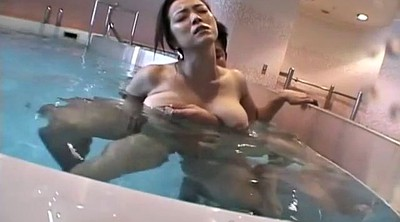 Bikini, Huge, Pool, Breast, Japanese wife, Asian breast
