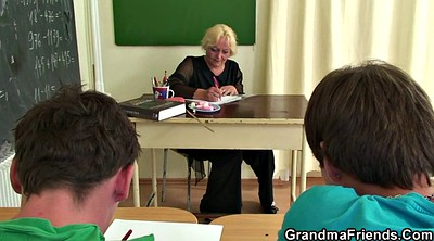 Teacher, Boy, Mature boy, Very old granny, Teen boy