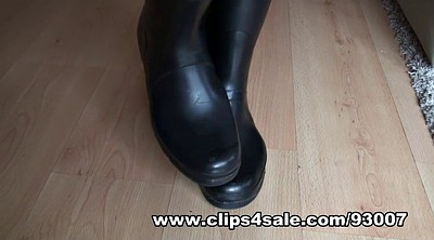 Boots, Hunter, Foot licking, Latex rubber, Latex boots, Boots fetish