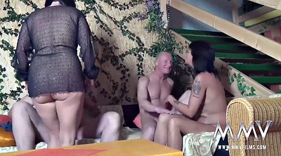 Mature gangbang, German granny, Sex party, Granny gangbang, German mature, Mature swingers