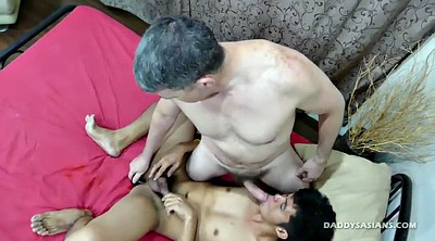 Dad, Asian daddy, Asian old, Big ass dildo, Gay dad, Old dad
