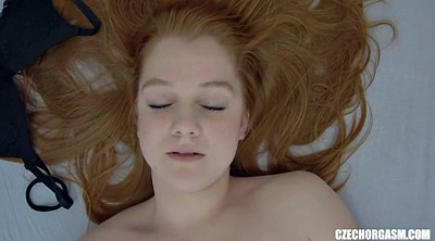 Redhead, Young girl, Real orgasm