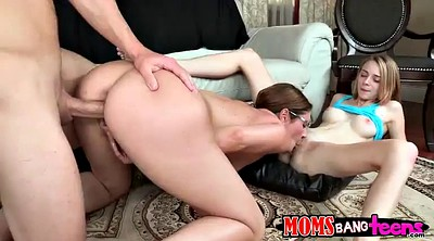 Threesome, Long, Mom daughter, Mom and daughter, Horny mom, Mom handjob