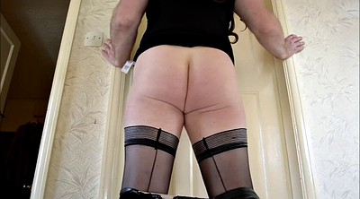 Crossdresser, Crossdress, Stockings solo, Solo stocking