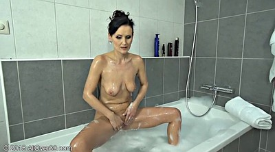 Old pussy, Bath, Mature shower, Hot granny