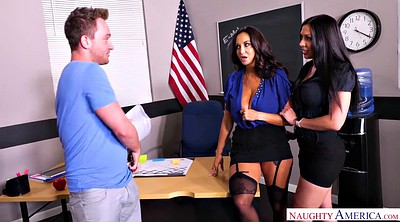 Ava addams, Tattoo, Rachel starr, Teacher threesome