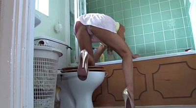 Panties, Panty upskirt, Cleaning
