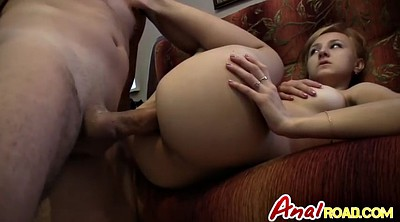 Big round ass, Real anal