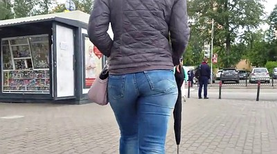 Jeans, Voyeur ass, Tight jeans, Jeans ass