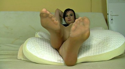 Foot, Sole, Screaming, Nylon foot, Nylon fetish