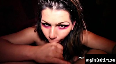 Big tits, Mouth, Mouthful, Making of, Angelina castro
