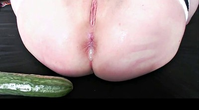 Anal dildo, Teen fisting, Cucumber
