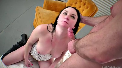Blindfold, Blindfolded, Big dick, Hairy anal milf, Hairy ass, Milf facial